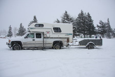 Cold weather camping in Waterton Lakes National Park