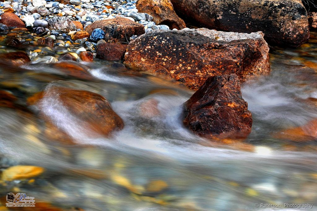 Cold fall rushing water