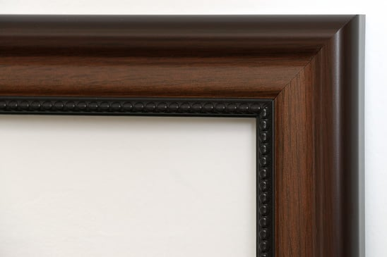 Walnut Beaded Picture Frame