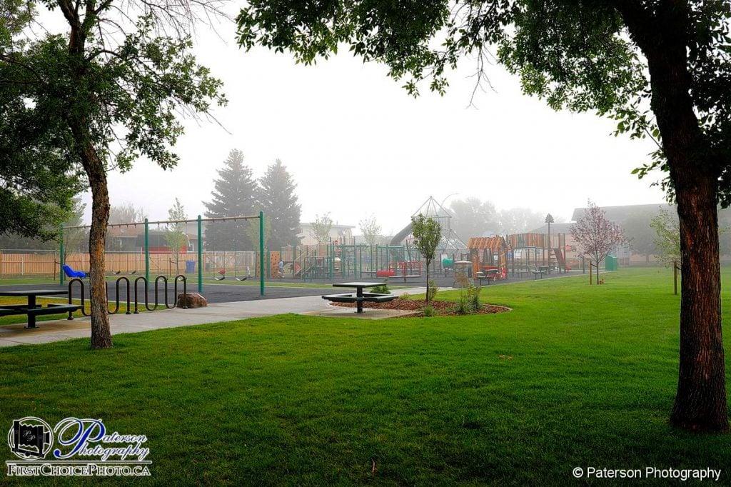 Fog at the playground