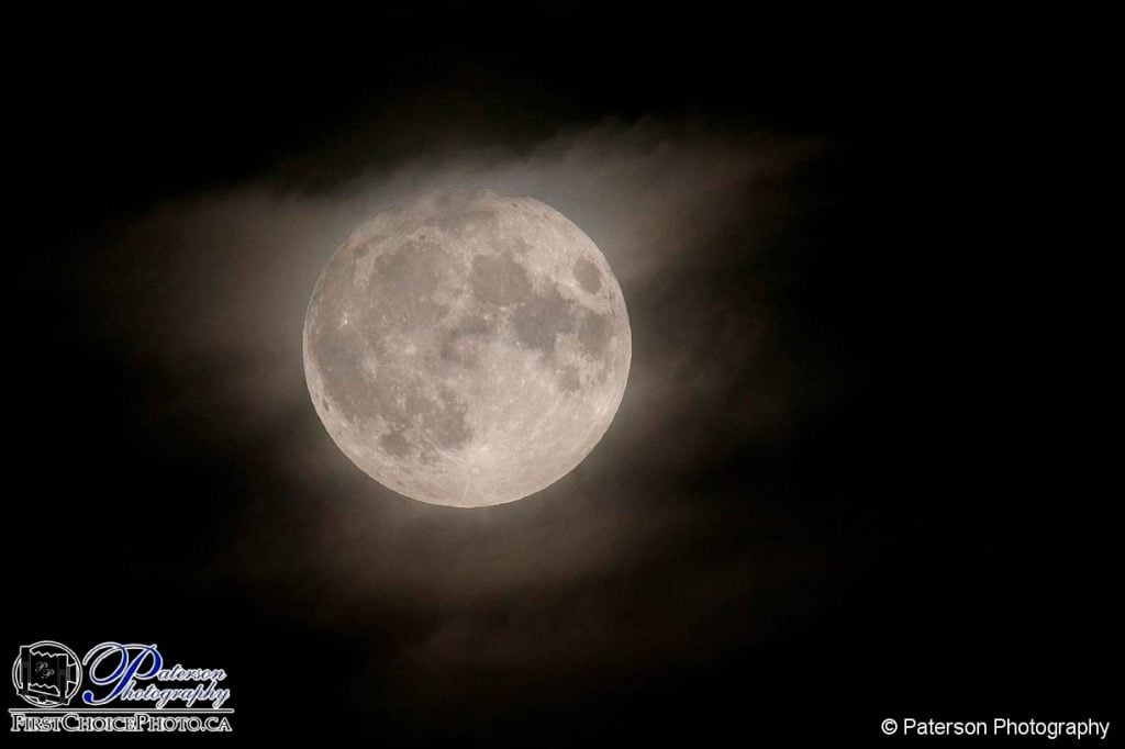 Harvest Moon and clouds