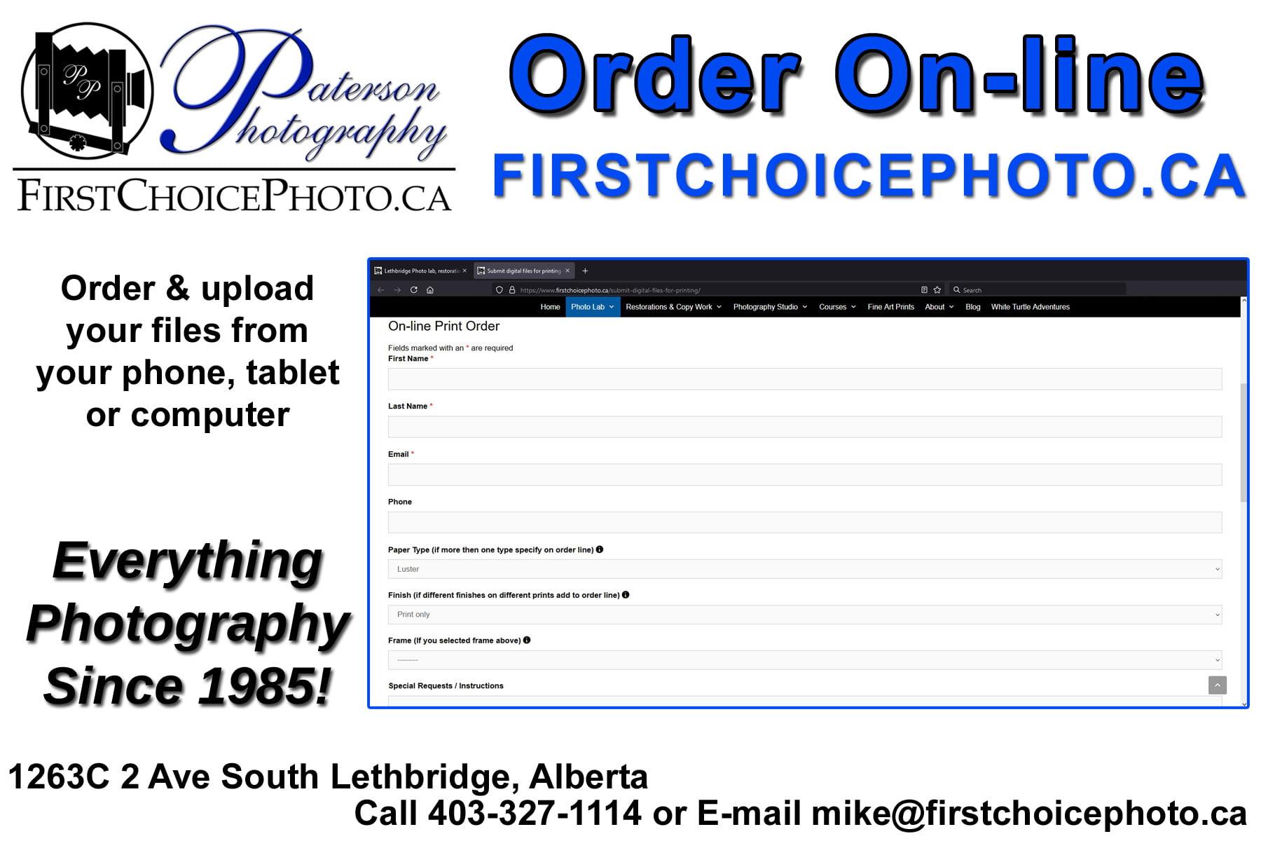 Online print otrder, Photo prints online, order pictures online, Photo lab