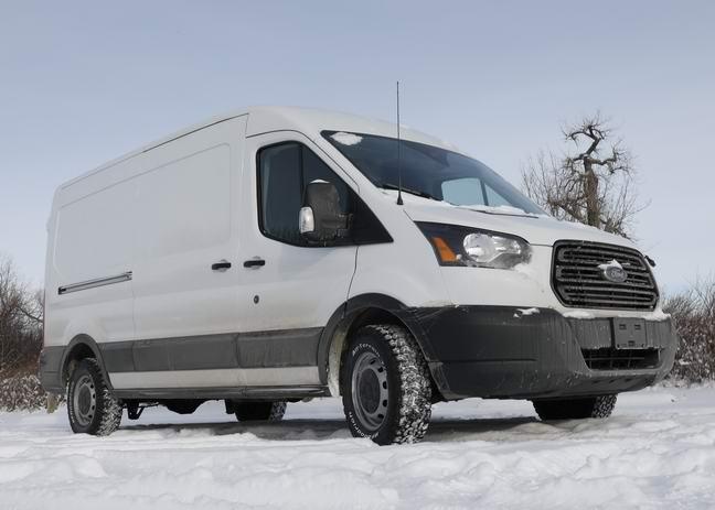 The van in the snow
