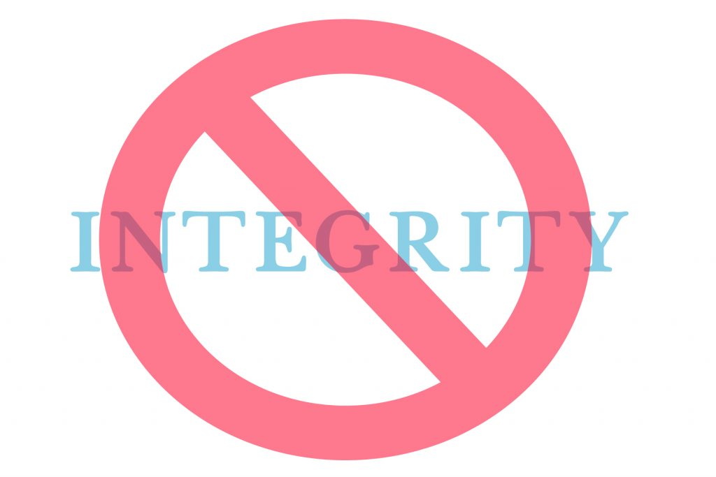 No Integrity!!