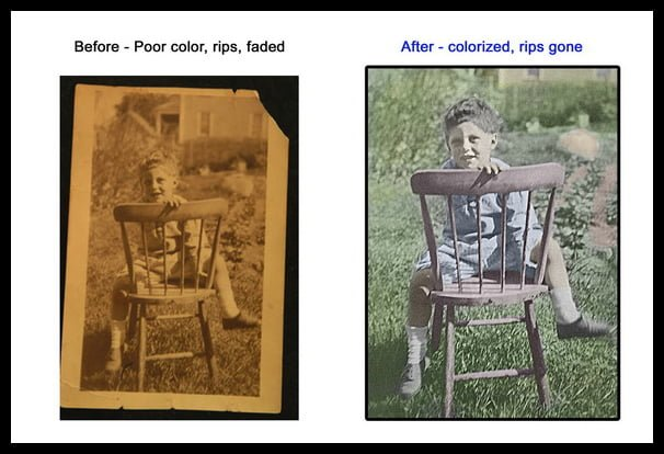 Photo restoration colorization