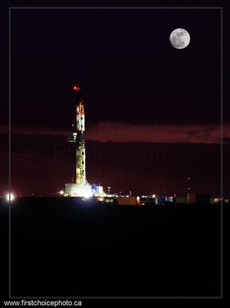 Moon, Well & City Lights